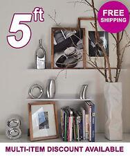 60in ultraLEDGE White Metal Floating Shelf, Picture Ledge, Photo & Art Display