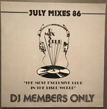 JULY MIXES 86 DISCO MIX CLUB DMC DJ MEMBERS ONLY UK VINYL