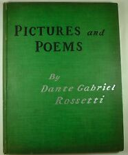 1899 Pictures & Poems DANTE GABRIEL ROSSETTI Folio ILLUSTRATIONS Poetry ART