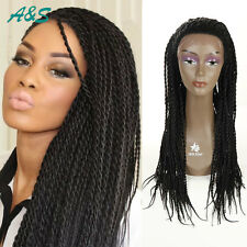 African American Hot Women Full Hand Braided Hair Lace Front Senegal Wigs
