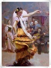 """Pino Daeni,Hand-painted Portrait oil Painting On Canvas 24x36""""#133/Unframed"""