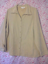 Sonoma Beige Moleskin Shirt Size 1X  Button down front and sleeves
