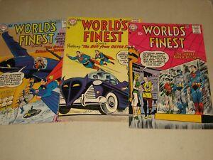 WORLD'S FINEST 91, 92, 93 (DC COMICS 1957-8) BATMAN ROBIN SUPERMAN GREEN ARROW