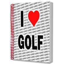 I Love Golf-A5 Notebook Pad Journal dessins anniversaire cadeau de Noël