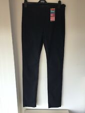 M&S Blue/Black Jeggings Size 14 Long  BNWT