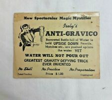 Vintage Isley's Anti-Gravico Water Bottle Magic Trick Circa 1940's Antique