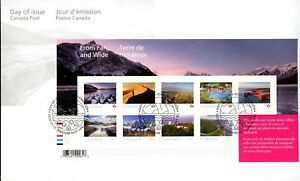 Canada FDC#3206 - From Far and Wide (3) (2020) $11.62 Souvenir sheet of 9