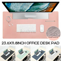 Office Desk Pad Protector Waterproof PC Game Mouse Pad Mat Non-Slip PU   W