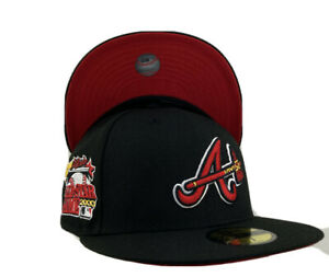 Atlanta Brave All Star Games 2000 Side Patch Red UV New Era Fitted Hat Black