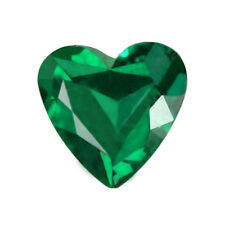 Certified 0.90ct Zambia Natural Emerald Heart 8.8x6.6mm Loose Gemstone 299_VIDEO