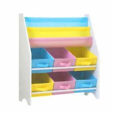 Keezi Kids Bookcase Childrens Bookshelf Toy Storage Organizer 2 Tiers Shelves FR