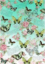 Decoupage-Bastelpapier-Softpapier-Vintage-Nostalgie-Schmetterling-12139