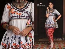 Gujarati with ancient folk  Dhoti styles Navratri Kediya type work cotton crep