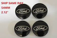 Set of 4 Ford Black Wheel Hub Center Caps #CP9C-1A096-AA For Fiesta Edge Focus