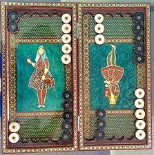 "Backgammon and Chess Board Persian Luxury 19.5"""