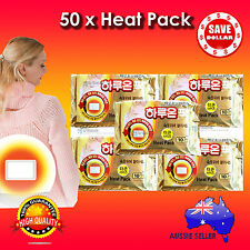50pc Haruon Pack Instant Heat Patch Body Warmer Hot Pad Heating warm 14 hours