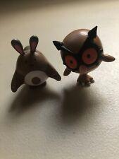 2000 Pokemon Tomy VINTAGE Figures Hoothoot And Sentret