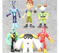 Ben 10 Action Figures Toy 6 PCS Set Tennyson Heatblast Cake Toppers