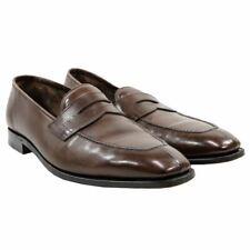 John Lobb Ashley 4596 Last Brown Leather Split Toe Loafers Shoes 9UK/10US