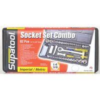 "Supatool 62 Piece 1/4"" and 3/8"" Drive Socket Set S2062"