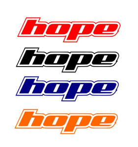 4 X HOPE MTB BMX FORK REPLACEMENT STICKER DECALS *SPECIAL OFFER* 21 COLOURS L@@K
