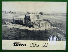 TATRA 111 - LKW - original Prospekt - Motokov - CSSR - 1955 - TOP