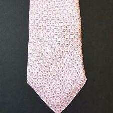 Tommy Hilfiger Golf Ball Tee Print Pink Necktie Tie Silk Foulard