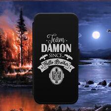 VAMPIRE DIARIES TEAM DAMON FLIP WALLET PHONE CASE FOR IPHONE SAMSUNG HUAWEI