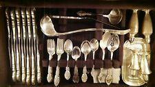 STERLING SILVER SERVICE FOR 12 + SERVING PIECES & CASE