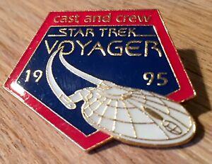 Star Trek Voyager Cast & Crew 1995 Enamel Pin Badge