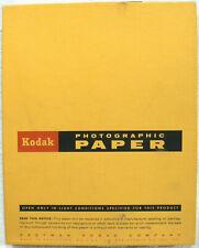 "Vintage Kodak Kodabromide F-3 8"" x 10"" Photo B&W Paper 25 sheets Open Box"