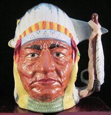 "Royal Doulton Two Sided Character Jug ""Sitting Bull & CusterI"" D6712"