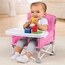 Booster Seat Pink Infant Toddler High Chair Feeding Foldable Tray Eating Snack