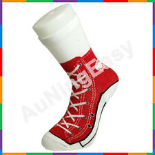 Free Red Silly Sock Sneaker Socks Cotton Shoe Print gift Christmas Birthday