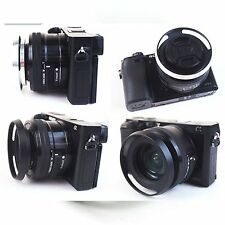 Slim New metal vented Lens 39mm thin wide angle Hood cap Screw in Leica M black