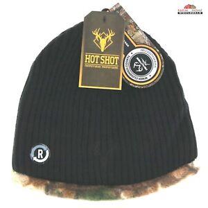 Reversible Camo Knit Fleece Beanie Hat Cap ~ New