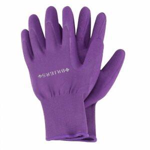 Medium Briers Purple With Comfi Grips Water Resistant Gardening Gloves