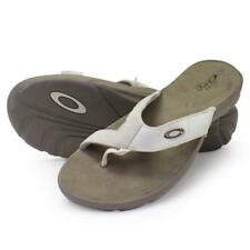 Oakley BETRAY 10 US Womens Girls Sandals White Nickel Khaki Beach Flip Flops