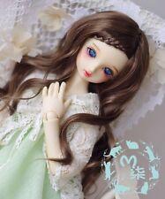 1/3 8-9Dal BJD SD MSD Wig MDD DOD LUTS DOC Dollfie Doll Curly Brown wigs Toy