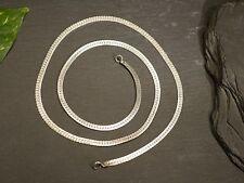 Tolle Silber Kette Flachpanzerkette Vintage Retro Defekt Für Bastler Elegant