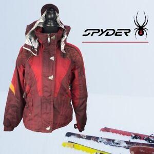 VTG Burgundy Red Spyder Thinsulate Ski/Snowboarding Jacket US Sz 8