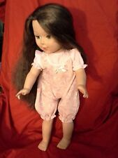 "18""  Madame Alexander Girl Doll w/ Brunette Hair & Aqua Blue Eyes  ( DRESSED )"