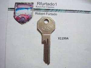Key Blank for Vintage Kaiser-Frazer ignition/doors 1949-50 (X1199A)