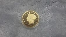 American Mint 1861 Paquet Eagle Commemorative  24k Gold Plated Beauty  Coin