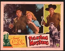 FIGHTING MUSTANG Lobby Card (Good) 1948 Al Terry Western Movie Poster 15090