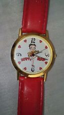 Collectible Betty Boop Watch Women's Jewelry Timepiece Animation Cartoon Art RED