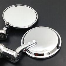 Chrome 22mm Inch Bar End Mirrors For Aprilia Vespa Kymco Piaagio Agusta Ktm Bmw