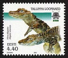 Estonia 2001 MNH, Chinese Alligator, Very Rare Species, Marine Life  - A9
