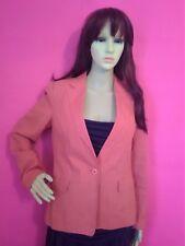 ZARA Basic Sz 10 Medium TAILORED Fit Linen Cottton Jacket Blazer Pumpkin Orange