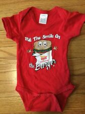 IN-N-OUT Burger Infant One Piece Bodysuit Size Newborn Inn Out Baby